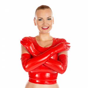 Latex - gloves, shoulder long in different colors and sizes 2
