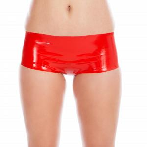 Knappe Latex Hot Pants für Damen und Herren  12