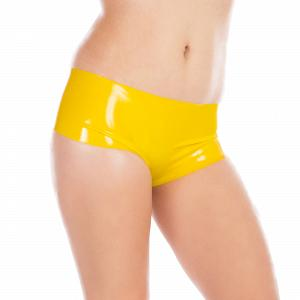 Knappe Latex Hot Pants für Damen und Herren  3