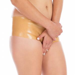 Knappe Latex Hot Pants für Damen und Herren  7