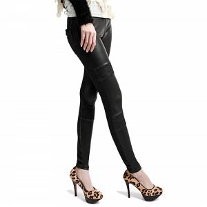 Wunderschöne Wetlook Glanz Stretch Leggings mit Jeanslook 10