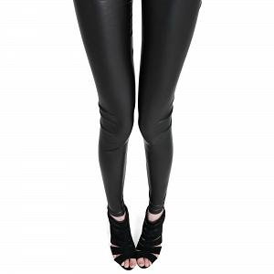 Wunderschöne Wetlook Glanz Stretch Leggings matt 4