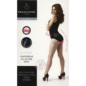PEACHY PINK LONDON SLIMMING SHAPEWEAR ANTI-CELLULITE ALL-IN-ONE-BODY 7