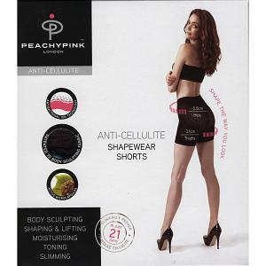PEACHY PINK LONDON SLIMMING SHAPEWEAR ANTI-CELLULITE SHORTS 7