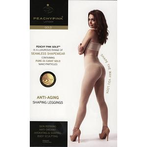 PEACHY PINK LONDON ANTI-AGING GOLD SHAPEWEAR HOSE LEGGINGS MIT H 7