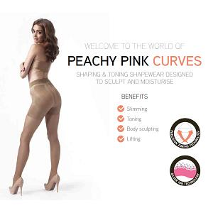 PEACHY PINK LONDON SHAPING SHAPEWEAR CURVES hochtaillierte Bermude Shorts Hose 2