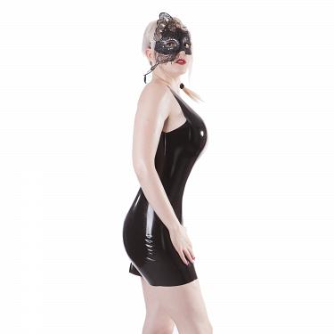 Latex Mini Kleid, kurz 3
