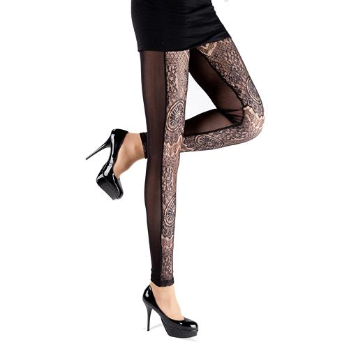 sexy brown legging with special pattern 3